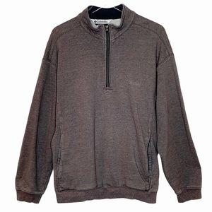 COLUMBIA Sweatshirt gray 1/4 zip